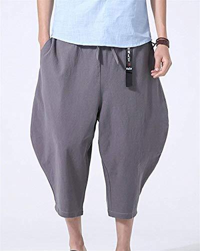 Vintage Casual Printemps Coton Automne Hommes Hippie Lâche Grau Et Capri Aladdin Moderne Sarouel Pantalon xtIUA0x