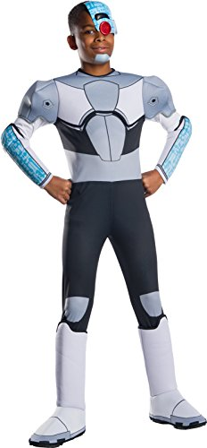 Rubie's Boys Teen Titans Go Movie Deluxe Cyborg Costume, Medium