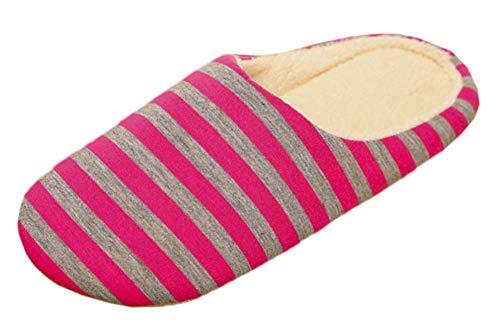 Intérieur Coton Hommes Slip Chaussures Style Automne Slippers en à Mode de Rayures Hiver Pantoufles Accueil Anti Femmes Japonais extérieur Snone Rouge de XB0qgZwxq
