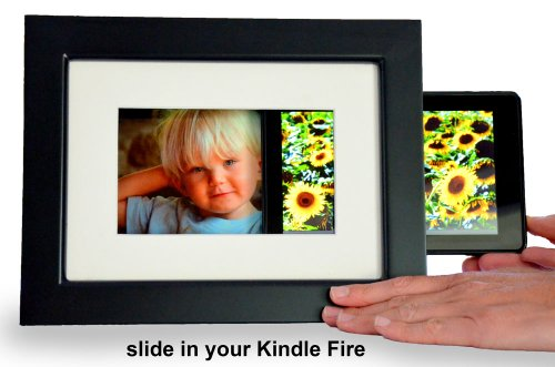 SlideFrame for Kindle Fire, Classic Black. Slide in your Kindle. Share your photos. Charge in style. Turn your Kindle Fire into a digital picture fram…