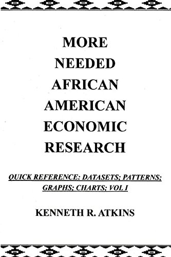 MORE NEEDED AFRICAN AMERICAN ECONOMIC RESEARCH: Quick Reference: Datasets;Patterns; Graphs; Charts