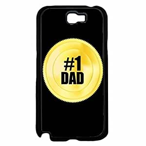 #1 Dad Gold Token Plastic Phone Case Back Cover Samsung Galaxy Note II 2 N7100
