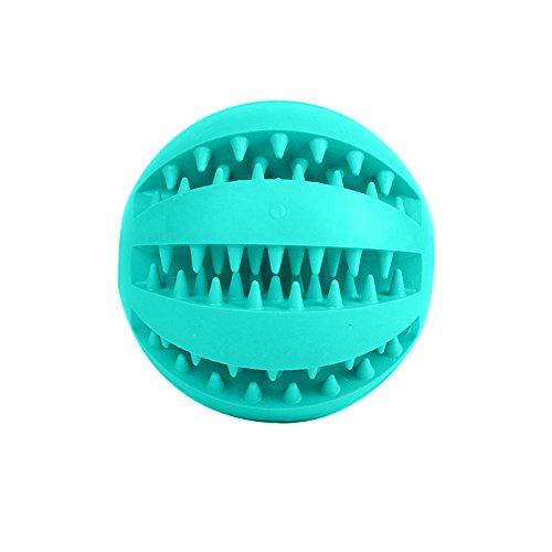 Bren SL Small Pet Rubber Ball Chew Treat Dispensing Holder Dog Puppy Cat Toy Training Dental (Box Rubber Dog Toy)