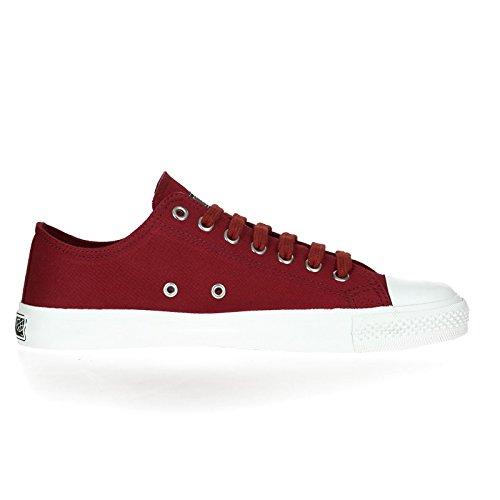 Ethletic Sneaker vegan LoCut Collection 17 - Farbe true blood / just white aus Bio-Baumwolle