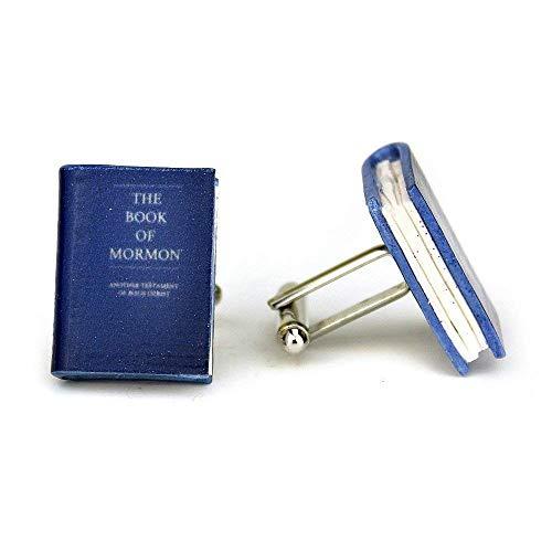 The BOOK of MORMON Clay Mini Book Cufflinks