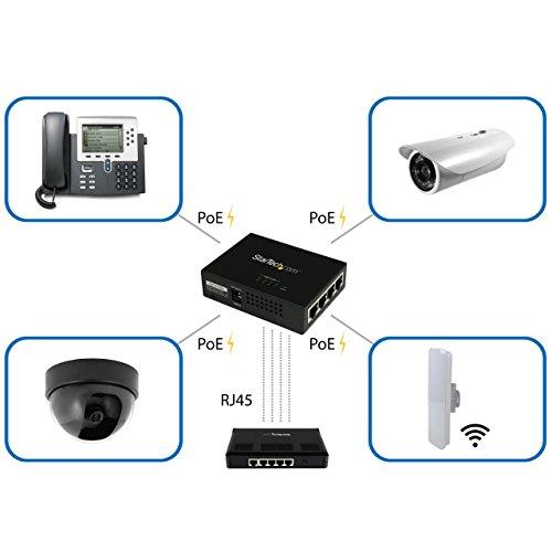 StarTech.com 4 Port Gigabit Midspan PoE+ Injector Wall-Mountable Power Over Ethernet (POEINJ4G) by StarTech (Image #4)