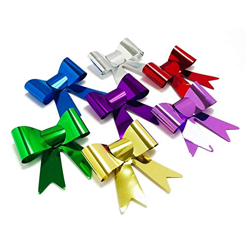 100PC Multicolor Metallic Self Adhesive Bow Ties - Special Occasion Gift Bow (Occasion Gift Bow)
