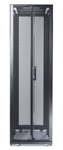 APC AR3300X306 NETSHELTER SX 42U/600MM/1200MM ENCLOSURE WITH ROOF AND SIDES BLACK, HD CASTER- D