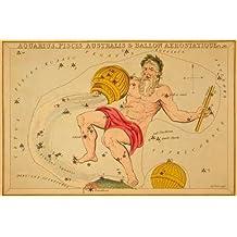 "Aquarius, Piscis Australis and Ballon Aerostatique, 1825 by Jehoshaphat Aspin - 16"" x 24"" Giclee Canvas Art Print"