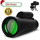Monocular High Power Spotting Scope - Baronage 12X42 High Definition Telescope with Smartphone Tripod and Phone Mount Adapter for Adults Bird Watching Camping Travelling.