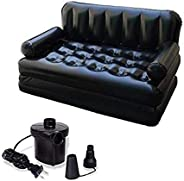 SIZHINAI Inflatable Couch Multi Functional Inflatable Sofa Bed Air Sofa Bed 5 in 1 Inflatable Couch For Living