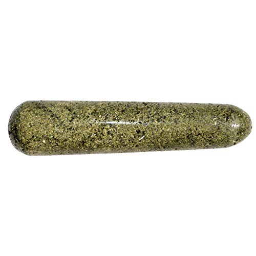 """Charged Green Epidote 4"""" Crystal Massage Wand Healing Energy/ENHANCES Energy/Increases Spiritual Perception/Releases Negativity Reiki by ZENERGY GEMS -  4 inch Pointed Epidote Wand"""