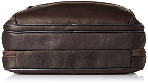 Heritage Double Gusset Top Zip EZ Scan Computer Case with IPad Tablet Pocket, Brown, One Size by Heritage Travelware (Image #3)