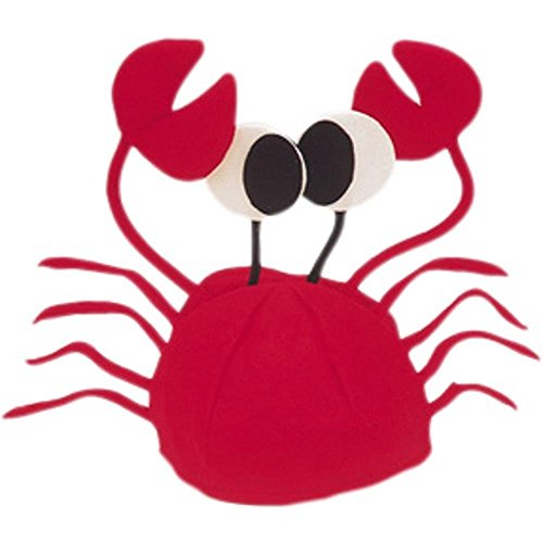 Fish Costumes For Men (Crab Hat - Red W40S18A)