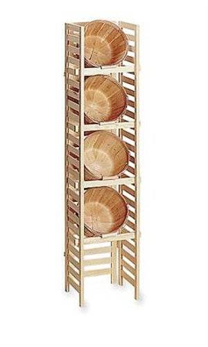 Natural Finish Basket Displays With 4 Baskets 5'H x 14''W x 12''D by Basket Displays