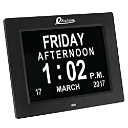 Digital Alarm Wall Electronic Calendar Day Clock- LED Extra Large Numbers Dementia Clock for Elderly- Kitchen/Bedroom decorative Clock
