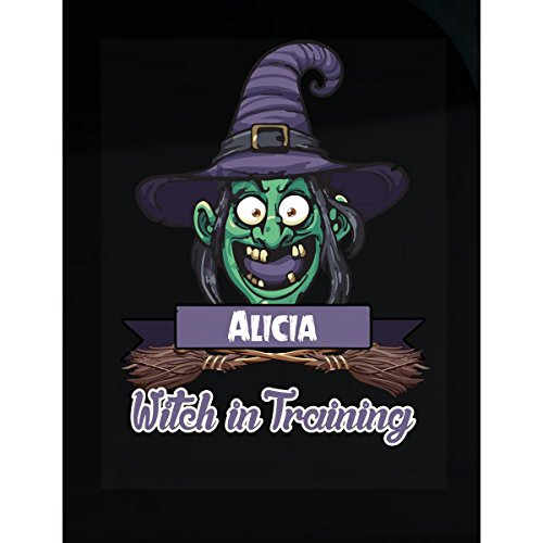 Halloween Costume T Shirt For Kids Alicia Witch In Training Funny Halloween Gift - Sticker