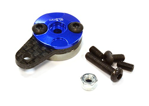 Fiber Rustler Carbon (Integy RC Model Hop-ups C25368BLUE Machined Aluminum & Carbon Fiber Servo Horn 25T for Futaba Servo (r=16.5mm))