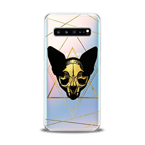 - Lex Altern TPU Case for Samsung Galaxy s10 5G Plus 10e Note 9 s9 s8 s7 Boho Cat Skull Design Flexible Witchcraft Clear Cover Yellow Print Felines Lightweight Smooth Slim fit Lines Soft Geometric Gift