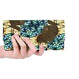 Unique Custom Mosaic Mosaic Table Pattern Turquoise Bfb Women Trifold Wallet Long Purse Credit Card Holder Case Handbag
