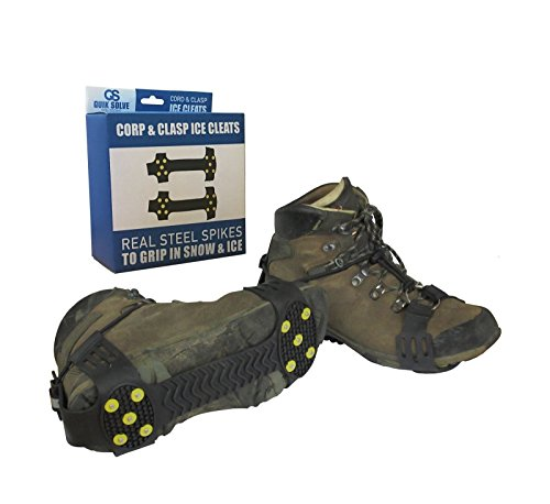Quik Solve Snow Ice Traction Shoe Boot Cleats - Walking Grip Spikes by mia-alre