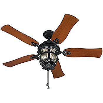 Westinghouse 7800000 brentford 52 inch aged walnut indooroutdoor harbor breeze lake placido 52 in aged iron outdoor downrod or flush mount ceiling fan sciox Images