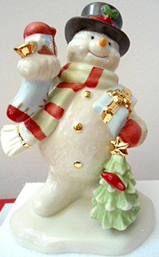 Amazon Com 2017 Annual Snowman Figurine Carrying Presents