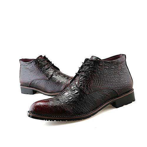 Scarpe Punta con Scarpe Alta da Casual Cricket da da di Moda Rosso Business con Formali e Uomo Oxford Stivali Caldo Stile Uomo 7wXUxSqw