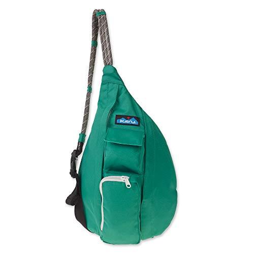 KAVU Mini Rope Sling Bag Crossbody Shoulder Polyester Backpack - Verde