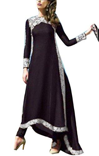 Pizzo Orlo Asimmetrica Lungo Nero Abito Formato Orlo Coolred Partito donne Elegante Più Di 6xqSwIg1