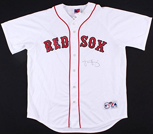 Jacoby Ellsbury Signed Red Sox Majestic Jersey (MLB Hologram & Mounted Memories Hologram) Autographed Majestic Mlb Baseball Jersey