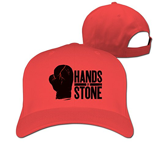 Woman Man Hands of Stone Boxing Roberto Durán Cotton Adjustable Peaked Baseball Cap Red