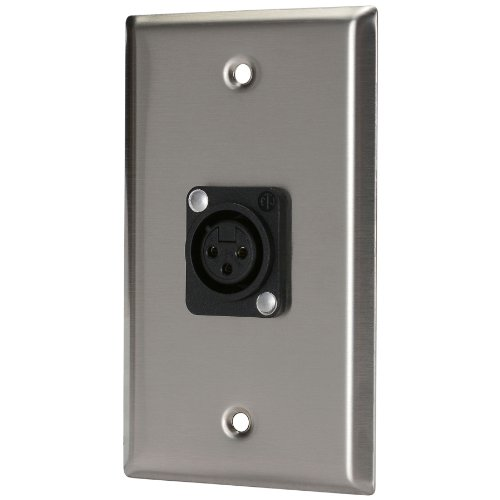 - Pro Co WP1025 (1) XLR Female Wallplate Single Gang