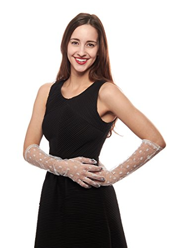 Darling Daisy Elbow Length Lace Gloves
