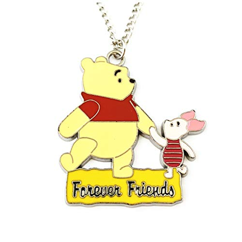 Athena Brands Pooh & Piglet Friends Fashion Novelty Pendant Necklace Movie Cartoon Series with Gift Box