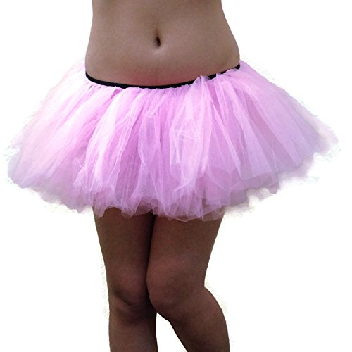 Rush Dance Women's Organza Sexy Rave Costume Tutu (Adult, Pink)