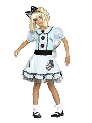 Costumes Scary Wind Up Doll - Fun World 112302M 0 Costume, Medium,