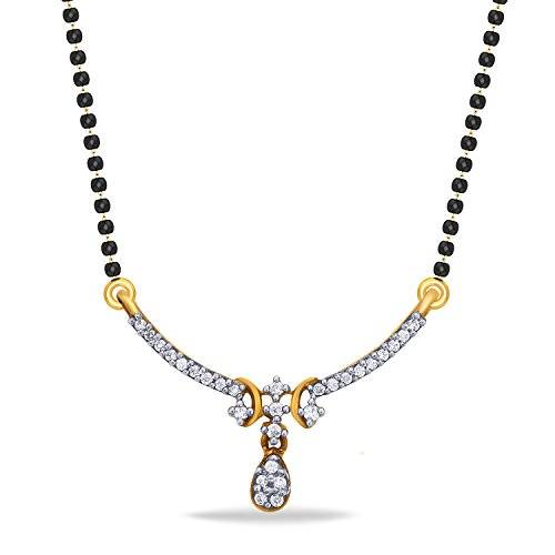 P.N.Gadgil Jewellers 18KT Yellow Gold and Diamond Mangalsutra for Women
