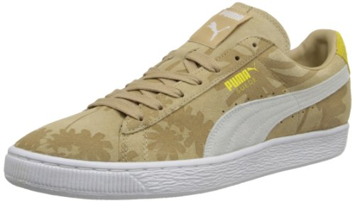 Contrast Leather Sneaker Yellow (PUMA Men's Suede Classic Tropicali Fashion Sneaker,Curd/Whey/Vibrant Yellow/White,13 M US)