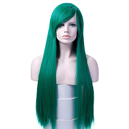 (Long Straight Wigs High Temperature Fiber Synthetic Hair Cosplay Wigs Costume Halloween Party For)