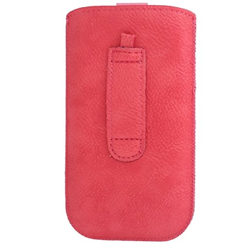 "DFV mobile - Pouch Case Circles Embossing & Belt Loop & Pull Tab Velcro for =>      APPLE IPHONE 6 [4,7""] > Pink"
