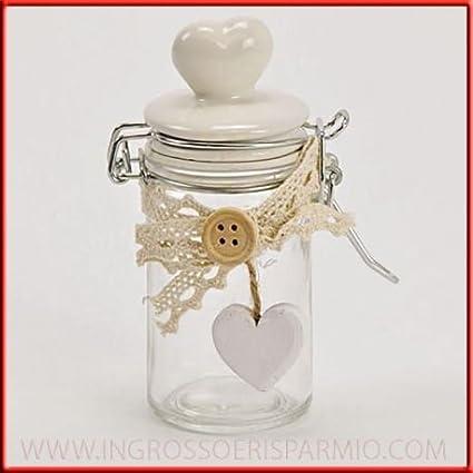 Oggettistica per bomboniere barattolo vetro confettata for Amazon oggettistica