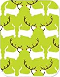 Pet Party Printz The Red Nosed Doggie Holiday Gift Wrap, 7 Square Feet, Light Green with White Dogs Wearing Antlers and Red Noses