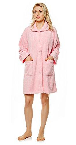 - Arus Women's Long Cardigan Indoor Outdoor Home Bed Jacket Robe, Pink, LXL