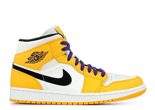 Air Jordan 1 Mid Se 'Lakers' - 852542-700 - Size 10.5