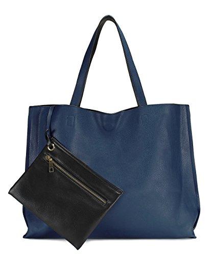 - Scarleton Stylish Reversible Tote Bag H18420701 - Blue/Black