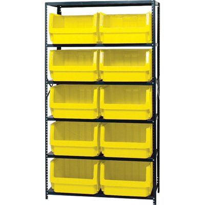 Quantum Storage Heavy Duty Magnum Bin Unit - 18in. x 42in. x 75in. Unit Size, Yellow, Model# MSU 543 Y by Quantum