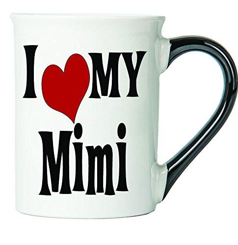 Tumbleweed - Mimi - I Love My Mimi - Large 18 Ounce Ceramic Mug With Black Handle - Mimi Mug (Ceramic Pottery Tumbleweed)