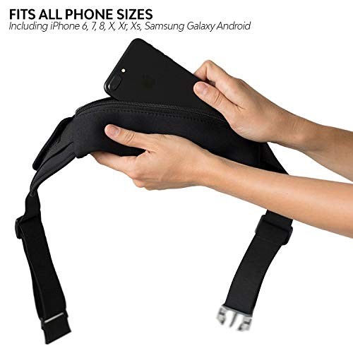Orion Running Belt - Hands-Free Way to Carry Your Phone, Money, Keys While Hiking, Running, Walking, Parenting - Adjustable Water Resistant Fanny Pack for Amusement Parks, Travel by Mind and Body Experts (Image #4)