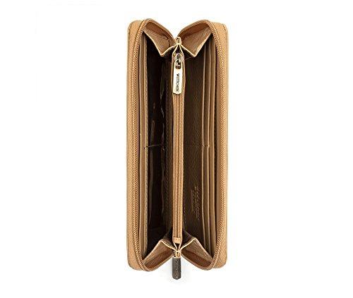 WITTCHEN Portafoglio, Dimensione: 19x9cm, Beige, Materiale: Pelle verniciata, Orizzontale, Collezione: Verona - 25-1-393-C